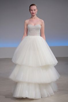 """""""Savannah"""" Sweetheart, Tulle Tiered Ball Gown 