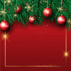 Free Christmas Backgrounds, Christmas Background Images, Christmas Border, Vector Christmas, Merry Christmas Images Free, Christmas Wallpaper Free, Christmas Tree Branches, Christmas Frames, Christmas Baubles
