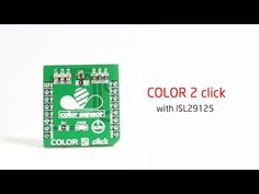 Color 2 click – board with RGB color light sensor 2 Colours, Light Colors, Color 2, Light Sensor, Board, Bright Colors, Sign, Planks, Tray