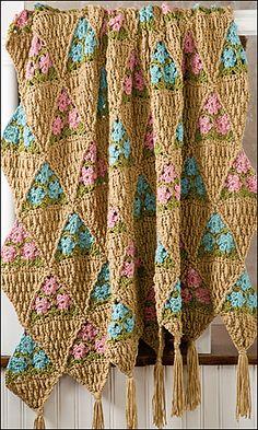 Ravelry: Flower Baskets Afghan pattern by Rena V. Stevens