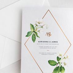 White Floral Wedding Invitation Suite Deposit Chic White