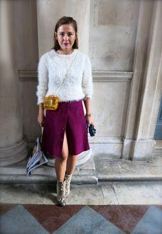 Lips match skirt #magenta #snakeskin