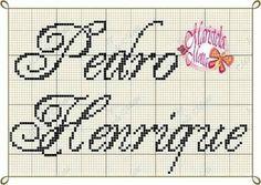Resultado de imagem para henrique em ponto cruz Cross Stitch Embroidery, Diy And Crafts, Bullet Journal, Names, Google, Cross Stitch Font, Cross Stitch For Baby, Cross Stitch Letters, Cross Stitch Samplers