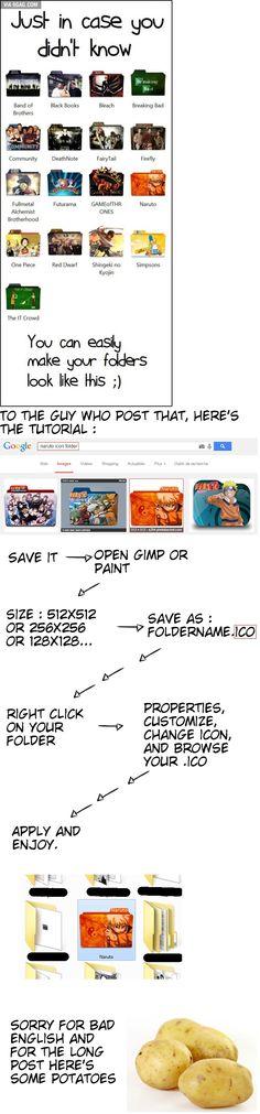 Personalised folder tutorial
