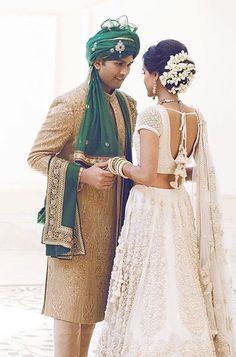 40 Ideas White Wedding Lengha Bridal Lehenga Brides For 2019 Indian Bridal Outfits, Indian Bridal Lehenga, Bridal Wedding Dresses, Lehenga Wedding, Wedding Outfits, Indian Dresses, Wedding Hair, Wedding Stuff, Wedding Ideas