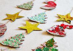 activité de Noël pour les enfants avec du carton Christmas Crafts For Kids, Christmas Time, Merry Christmas, Theme Noel, Christmas Paintings, Xmas Decorations, Xmas Tree, Diy Crafts, Activities