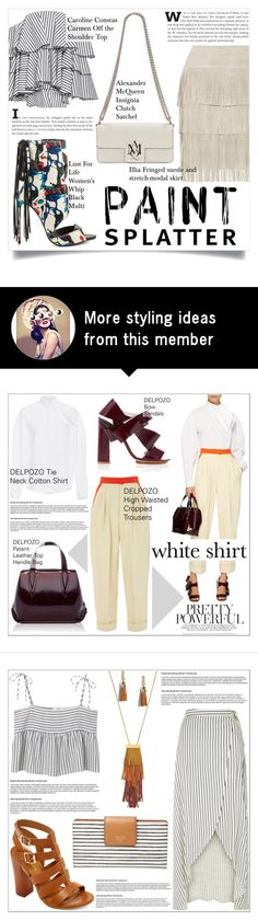 """Make a Splash With Paint Splatters"" by martso on Polyvore featuring Caroline Constas, Lust For Life, Alexander McQueen, Illia, contest, paintsplatter, contestentry and fashionset"