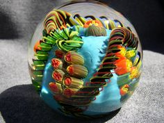 blown glass paperweight. via Etsy.