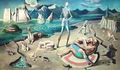 A surrealist-style painting by German artist, Rudolf Schlichter. Dangerous Minds, Salvador Dali, Ernst Von Salomon, Renaissance, Modern Art, Contemporary Art, George Grosz, New Objectivity, Degenerate Art