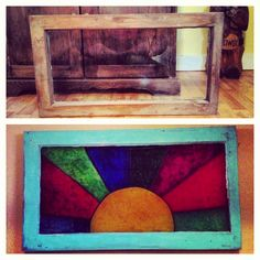 Before And After: DIY Stained Glass Window