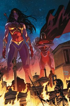 Superman and Wonder Woman in Injustice Gods Among Us.