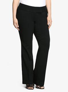 Noir Collection Millennial Pant - Slim Boot Trouser (Extra Short) | Torrid