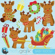 #prettygrafik #rudolph #deer #reindeer #holidays #christmas #clipart