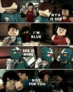 "⚫#LEGONinjago #Ninjago #NinjagoLegacyOfTheGreenNinja #NinjagoRebooted ⚫#Nya #Jay / #bizarroJay #Cole Parallels: ⚫[ "" Double Trouble "" 