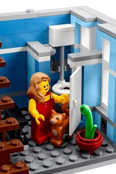 LEGO 10246 Detective's Office Bathroom and Toilet