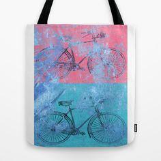 My colorful bikes Tote Bag by Fernando Vieira