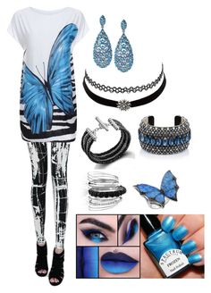 """""""Oh look a butterfly."""" by ladypurpledragon ❤ liked on Polyvore featuring Lanvin, Charlotte Russe, Stephen Webster, Avenue and John Hardy"""