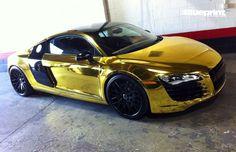 Rides: Tyga Has A Custom Shiny Gold Audi R8