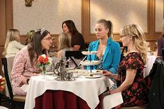 Penny, Amy and Bernadette go out for tea together.