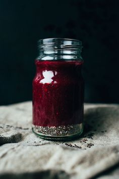 Persimmon Blackberry Chia Seed Jam | goodeatings.