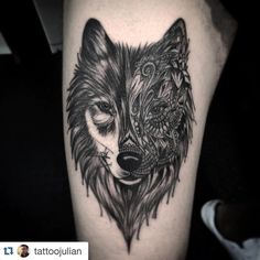 awesome Top 100 wolf tattoos - http://4develop.com.ua/top-100-wolf-tattoos/ Check more at http://4develop.com.ua/top-100-wolf-tattoos/