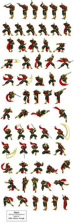 Samurai Sprites ShowDown [15 Sheets To Arm Sprites] [Download Gifs]