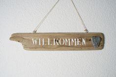 ~ Willkommens Schild ~ aus Treibholz von nordic Art auf DaWanda.com