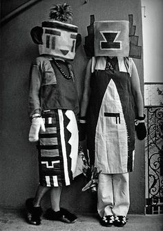 Sophie Tauber-Arp designs for a performance at Cabaret Voltaire, Zurich, 1916