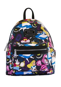 Alice In Wonderland Disney Mini Faux Leather Backpack by Loungefly We're all mad here...as you can see I am not all there myself. If I had a place of my own everyone would carry Disney's Alice in Wond