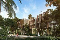 DEPARTAMENTOS EN TULUM LUXURY CONDOS | Tulum | Vivanuncios Tulum Beach, Parking, Costa Rica, Ideas Para, Interior Architecture, New York Skyline, Condo, Villa, Exterior