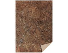 1 Bogen Kartenkarton  24 x 34cm, Leder dunkelbraun von Zeit für Kreatives auf DaWanda.com
