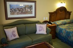 These pillows! Famous Disney horses on the couch at Disney's Saratoga Springs Resort Saratoga Springs Disney, Saratoga Springs Resort, Springs Resort And Spa, Disney Vacation Club, Disney Cruise, Disney Vacations, Disney Parks, Disney World Resorts, Walt Disney World
