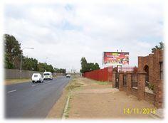 Soweto, Jabulani.    Main towards Zola Clinic, Shoprite checkers, route towards Jabulani Mall, and taxis to Dube, JHB CBD, and Chris Hani Precinct (Baragwaneth) Visibility: from 700m.
