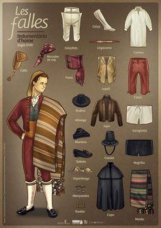 Resultado de imagen de indumentaria valenciana partes