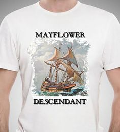 Mayflower Descendant T-Shirt with Free Car Decal  #Gildan #GraphicTee