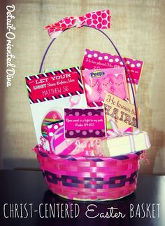 Share an easter basket filled with jesus this year easter i like some of these ideas from detail oriented diva for a christian easter basket but not all negle Image collections
