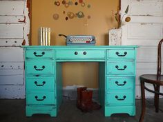 Statement desk!   I've got a desk that needs repainting, maybe I'll try this amazing color :-)