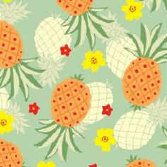 Tropical print - pineapple - ananas