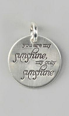 82eda2bf1 sunshine pandora charm You Are My Sunshine My Only Sunshine - Necklace ...