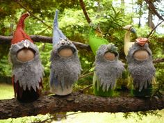 Gnomes for Four Seasons Walforf Inspired Wool Felt by BRIDGITSBELL, $24.00