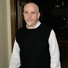 """Peter Gabriel, July 24, 2008 promoting Real World album """"Big Blue Ball"""" Photo by (I think) Mike Collett-White"""