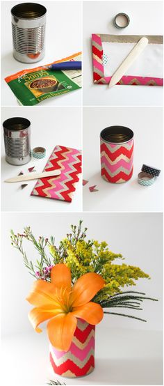 DIY Soup Can Vases   The Crafted Life