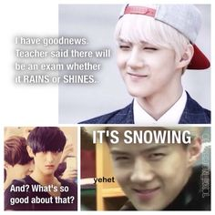 Its snowing tho   Taohun :)  Sehun and tao <3  #exomeme