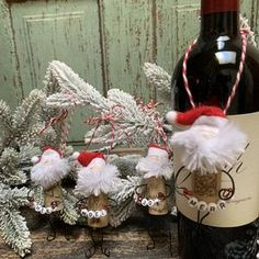 Cork Christmas Trees, Christmas Wreaths, Christmas Crafts, Christmas Ideas, Xmas, Reindeer Ornaments, Handmade Ornaments, Cork Crafts, Diy Crafts