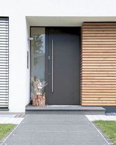 Contemporary Exterior Doors Wonderful Contemporary Front Doors Contemporary Front Door Modern Front Door Best Entrance Ideas On Regarding Contemporary Contemporary Front Door Handlesets Modern Entrance Door, Modern Front Door, Front Door Entrance, House Front Door, Front Door Design, House With Porch, Front Entrances, House Entrance, Entry Doors