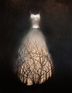 {Illustration by Todd Murphy via Mothtales } {Photo illustration by Louise Richardson Art } Weekend Dresses, Night Circus, Oeuvre D'art, Faeries, Wearable Art, Fairy Tales, Art Photography, Creations, Fantasy