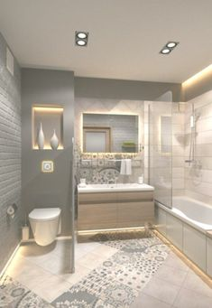 bathroom ideas on a budget / bathroom ideas _ bathroom ideas small _ bathroom ideas on a budget _ bathroom ideas modern _ bathroom ideas master _ bathroom ideas apartment _ bathroom ideas diy _ bathroom ideas small on a budget Bathroom Design Luxury, Modern Bathroom Design, Modern Design, Luxury Bathrooms, Small Bathroom Designs, Small Bathroom Interior, Washroom Design, Toilet Design, Dream Bathrooms