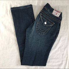 Authentic True Religion Billy. True Religion Billy Jeans. Boot cut. Size 28. Good condition. Tiny defects shown pic #4. Barely noticeable. Price negotiable. True Religion Pants Boot Cut & Flare