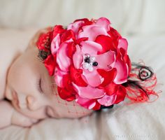 Over the Top Red & Pink Boutique Headband is perfect for newborn pictures!