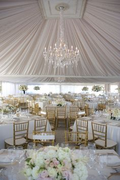 "ohweddingbelles: "" Dramatically draped tent for a wedding reception """